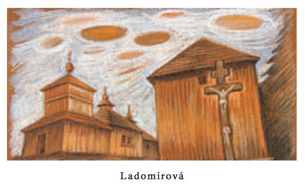 Zdroj maľby: https://homolovadrevenechramy.webnode.sk/fotogaleria/malby-drevene-chramy/#ladomirova-jpg
